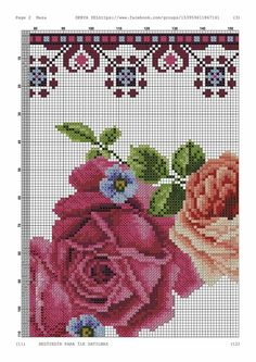Brother Innovis, Cross Stitch Flowers, Cross Stitch Embroidery, Needlework, Projects To Try, Crossstitch, Pink Tablecloth, Cross Stitches, Herb