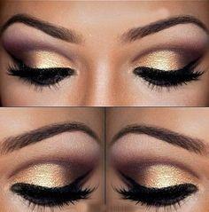 gold and purple stunning eye makeup