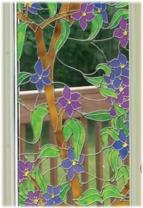 Biscayne See Through Stained Glass Window Film