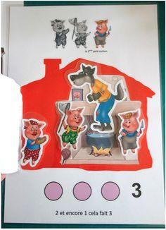 Photos du livret Trois petits cochons chez Christine F Three Little Pigs, Nursery Rhymes, Toy Chest, Maths, Photos, Kids, Activities, Piglets, Short Stories