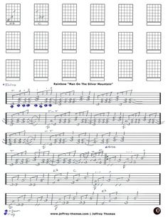 Rainbow Man On The Silver Mountain Guitar Tab by Jeffrey Thomas. Play all the great licks from this tune with my guitar tab and set up a free Skype lesson!