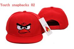 Red and black angry birds snapback hat Mon Cheri, Snapback Caps, New Era Cap, Baseball Cap, Fashion Accessories, Youth, Flats, Angry Birds, Red