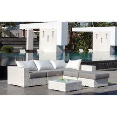 Majestic Garden Sofá modular y mesa de jardín Bahía Conjunto modular de sofás compuesto por dos módulos de esquina y dos módulos centrales más una mesa de...