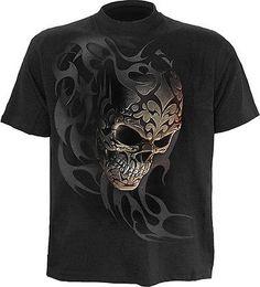 SPIRAL DIRECT TRIBAL SHADOWS T-Shirt,Biker/Crossbone/Reaper/Skull/Goth/Top/Tee/