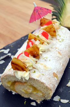 We like pina coladas, and we LOVE Benjamina's roulade from The Great British Bake Off