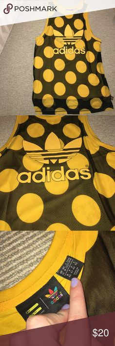 Adidas dress Adidas polka dot jersey dress worn once and in good condition, comes from a pet and smoke free home. Adidas Dresses Mini
