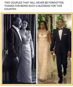 """Stepfon Mccall: """"Two historical and influential couples of all time President Barack and Michelle Obama and Dr. Martin Luther King Jr and Coretta Scott King! Martin Luther King, Black Is Beautiful, Beautiful People, Beautiful Pictures, Presidente Obama, Black Presidents, Barack And Michelle, We Are The World, African American History"""