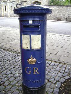 A Green And Purple Hong Kong Post Box From Nathan Road