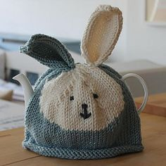 Bunny Rabbit Tea Cosy knitting patterns by Julie Richards - Available at LoveKnitting