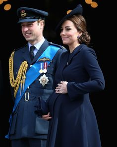 Prince William, Duke of Cambridge and Catherine, Duchess of Cambridge leave St Paul's Cathedral after a Service of Commemoration for troops who were stationed in Afghanistan on March 13, 2015 in London, England.