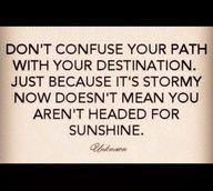 Don't confuse path with destination