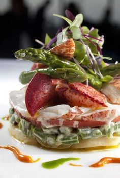 Azure lobster salad with mustard potatoes, haricot verts, tomatoes and asparagus as served at Azure in Revel Resort, Atlantic City, June 21, 2012. ( DAVID M WARREN / Staff Photographer )