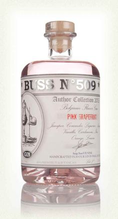 No alcohol for me.  I just love the bottle!  Buss No.509 Pink Grapefruit Gin