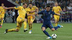 Ukraine 0-2 France (Yohan Cabaye [6] scores the 2nd goal past Oleh Gusev [9])