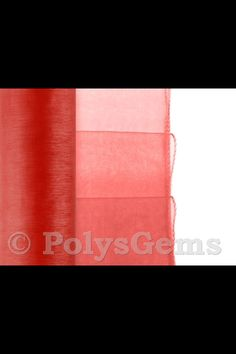 Red organza for tutu skirt, alternated with black for Halloween costume