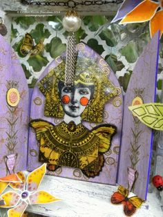 PaperArtsy: Butterfly Shrine { with Hot Picks and Lynne Perrella Stamps by Kirsten Sheridan}