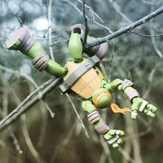 """Mikey goes into the woods.  #TMNT #teenagemutantninjaturtles #mikey #michealangelo #ninjaturtles #ninjaturtleposes #revoltech"""