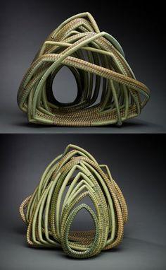 """DEBORA  MUHL, North Carolina basket weaver, """"Look through Sage"""""""