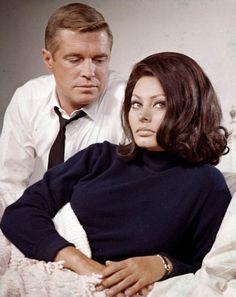 George Peppard con Sophia Loren