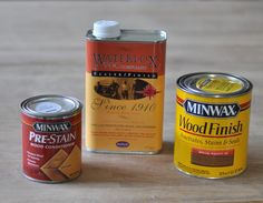Three Products   Wood Conditioner, Special Walnut Stain, Waterlox Sealer /finish