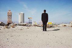 La Strip vista dal deserto con Robert Venturi, 1966. - (Denise Scott Brown, Venturi, Scott Brown and Associates)