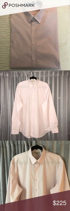 BRAND NEW AUTHENTIC MEN'S BURBERRY CLASIC SHIRT Classic baby pink Men's shirt from Burberry. 100% authentic. It is brand new, never worn, without tags. Washed it before listing because it was in the closet for a while and felt that it needed to wash. Burberry Tops Button Down Shirts