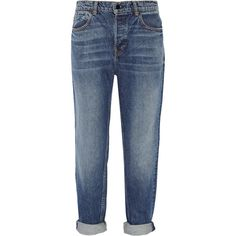 Alexander Wang Wang 003 boyfriend jeans (16,665 PHP) ❤ liked on Polyvore featuring jeans, blue, blue jeans, torn jeans, relaxed jeans, relaxed fit jeans and distressed jeans