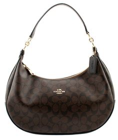 8402730603 Harley East/West Hobo In Signature (Coach F38267) Imitation Gold/Brown/