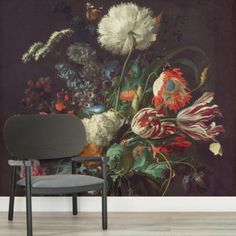 The Vase of Flowers by de Heem Wallpaper Mural is a beautiful piece of art that will act as a stylish new feature wall in your space, a truly elegant style. World Map Wallpaper, Normal Wallpaper, Unique Wallpaper, Van Gogh Wallpaper, Wall Wallpaper, Bedroom Murals, Wall Murals, Cool Wallpapers Designs, Van Gogh Almond Blossom