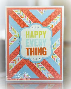 Happy Every Thing ~ Hopscotch ~ Herringbone ~ catscrapbooking.com