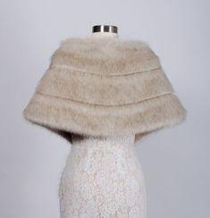 faux fur wrap, faux fur stole, faux fur shawl, bridal wrap, wedding shrug, bridal shrug, faux fur cape, faux fur wrap bridal, B001-beige - #weddingshrug - faux fur wrap, faux fur stole, faux fur shawl, bridal wrap, wedding shrug, bridal shrug, faux fur cape, faux fur wrap bridal, B001-beige... Winter Wedding Shawl, Wedding Shrug, Bridal Shrug, Bridal Lace, Faux Fur Bolero, Lace Bolero Jacket, Bridesmaid Shawl, Faux Fur Stole, Faux Fur Wrap