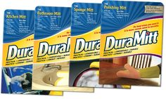 4-Pack of Assorted Duramitt Household Cleaning Mitts $16.99
