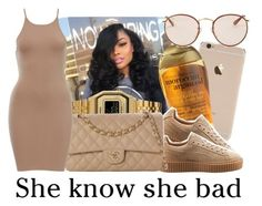 """""""✨"""" by fresh-beautyx ❤ liked on Polyvore featuring Organix, Puma, Ray-Ban, Casio and Chanel"""