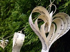 Paper Heart Music Garland8 ftWedding DecorWedding by RootToVine, $18.00