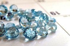 Sky Blue Topaz Briolette Gemstone