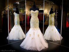Gold White Mermaid-Strapless-Sweetheart Neckline-Tulle Skirt-115MF0173800398 at Rsvp Prom and Pageant, Atlanta, GA