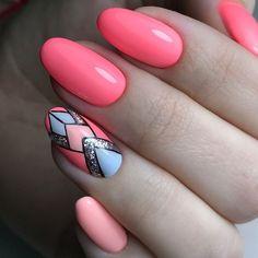 nail arts design and colors for summer nail art & Cute Nails, Pretty Nails, Hair And Nails, My Nails, Tribal Nails, Geometric Nail Art, Manicure Y Pedicure, Instagram Nails, New Nail Art