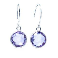 Lite Amethyst Quartz & Sterling Silver Earrings www.jewelya.com