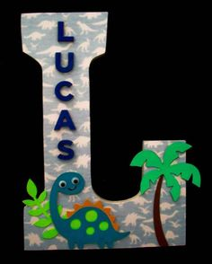 Dinosaur / Wood Letters/ Wall Letter / by cathyscraftycovers, $25.00