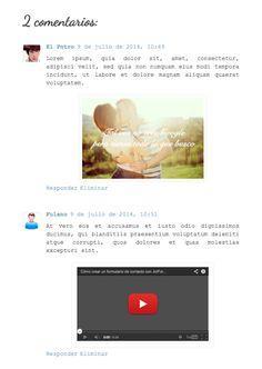COMO DISEÑAR TU PAGINA: Insertar imágenes y vídeos en los comentarios de Blogger