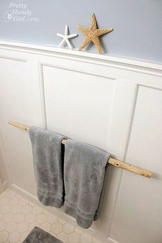 The other day I showed you how to prep and sand a branch to make a towel bar. If you haven't viewed that tutorial, you may wish to do so now. Okay, so let's get started. This shouldn't take too long, but you'll want to grab a few supplies before you begin. Materials: Prepped tree …