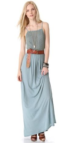 Nightcap Clothing Apron Beach Maxi Dress | SHOPBOP | Use Code: SALE25 for 25% Off Sale Items The back is killing it... I'll post the back for every one ♥