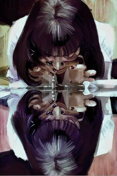 Image about art in Pulp Fiction by Ao Chi Arte Do Pulp Fiction, Pulp Fiction Tattoo, Pulp Fiction Quotes, Tarantino Films, Quentin Tarantino, Drugs Art, Arte Dope, Arte Van Gogh, Mia Wallace