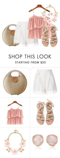 """Peachy"" by joybug9 ❤ liked on Polyvore featuring Zimmermann, WithChic, Elina Linardaki, BaubleBar and Monica Vinader"