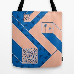 Palm geometry tote bag by J3 Productions