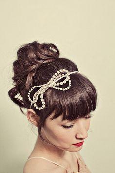 rhinestone bow headband style 122 by mignonnehandmade on Etsy, $58.00