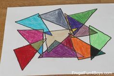 Geometric Art Project for Kids (With Printable Coloring Pages ...