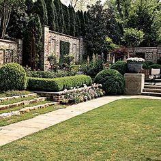 beautiful walled garden