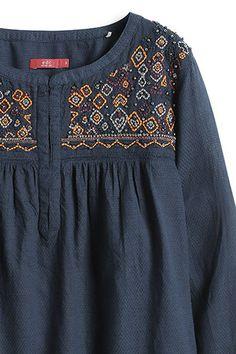 EDC / Bestickte Bluse im Ethno-Stil Neue Trends, Edc, Urban, Embroidery, Sweatshirts, Blouse, Long Sleeve, Sleeves, Sweaters