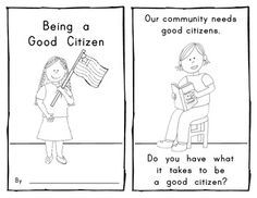 beginning of the school year citizenship activities students  being a good citizen emergent reader for social studies